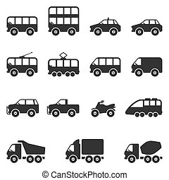 Transport Icon Set. Vector