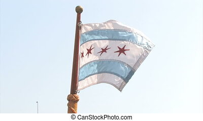 Illinois Flag - An Illinois flag waving on the nose of a...