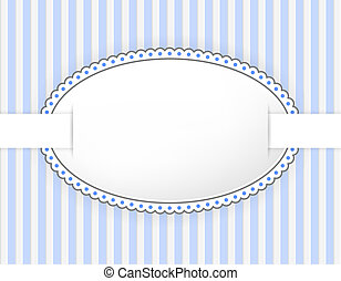 Oval label with dotted frame