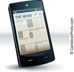 Newspaper Inside Pocket Mobile Phone - Illustration of a...