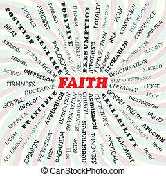 faith - illustration of faith concept.