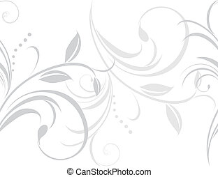 Ornamental light gray border isolated on the white. Vector...