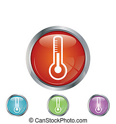 Thermometer button diferent colors.vector