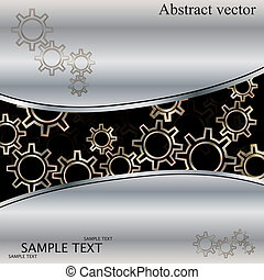 Abstract techno background with metal gears.vector