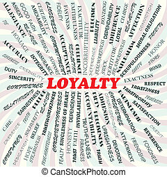loyalty - illustration of loyalty concept.