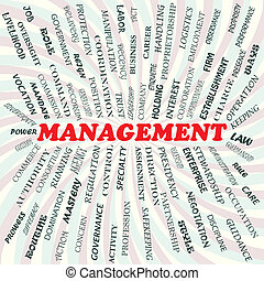 management - illustration of management concept.