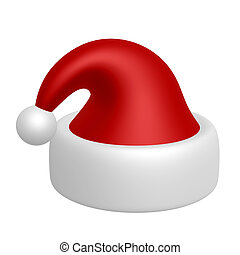 santa hat - red santa hat isolated on white background