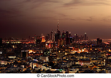 A skyline view of Dubai, UAE