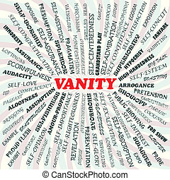 vanity - illustration of vanity concept