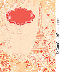 Paris, background with the Eiffel tower