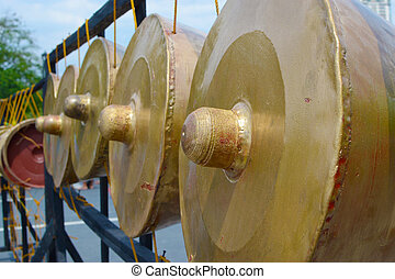 gong old musical instrument.