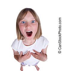 girl singing or shouting - girl singing shouting or...