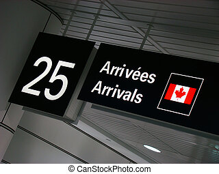 Airport sign - Airport gate arrival sign