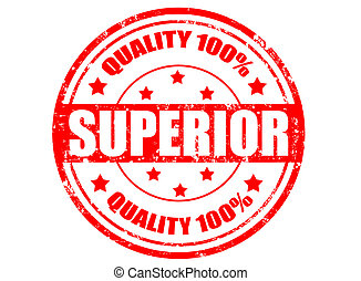 Superior-stamp - Grunge rubber stamp with word superior...
