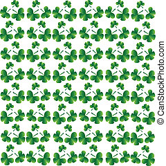 Seamless vector clover background for St Patricks Day