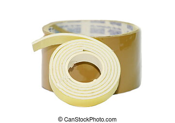 Two way and single tape for packaging