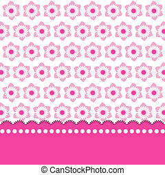 Cute pink floral background