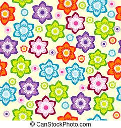 floral, flores, coloreado, Plano de fondo