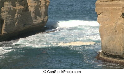 Loch Ard Gorge at Port Campbell National Park on the Great...