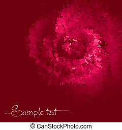 Rose colored ink vector background