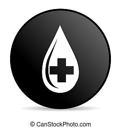 blood black circle web glossy icon