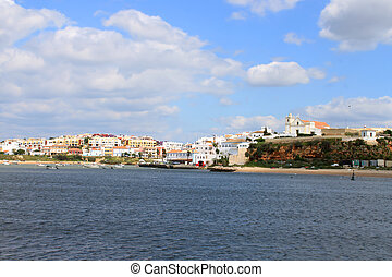 Waterfront in Ferragudo, Lagoa, Algarve, Portugal - Scenic...
