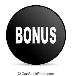 bonus black circle web glossy icon
