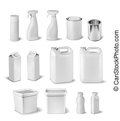 Blank package dummy collection - Blank package container...