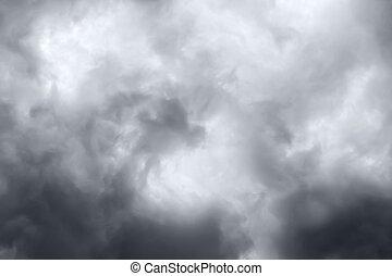 Rain clouds - Dark ominous grey storm clouds