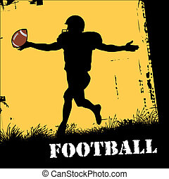 football player - vector illustration of a football player