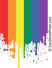rainbow flag - vector illustration of the rainbow flag