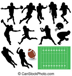football players - vector set of football players