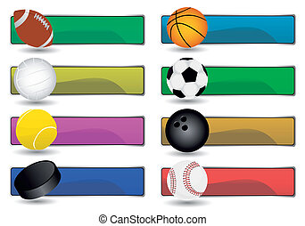 sport banners - vector set of various sport banners