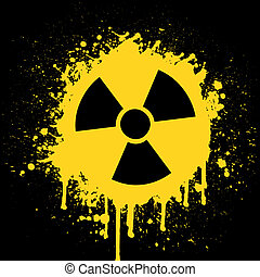 radioactive sign - vector illustration of the radioactive...