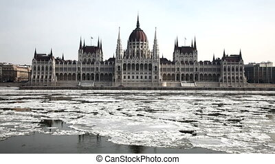 Parliement - Parliament building in winter Budapest