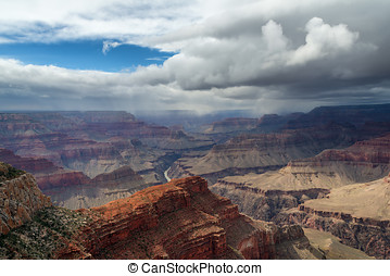 The Grand Canyon Before The Storm - The Grand Canyon Viewed...