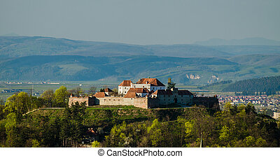 Brasov overview - Skyline view over the small fortress of...