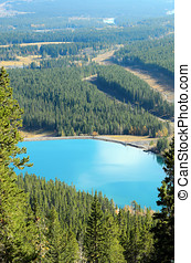 Mount Lady MacDonald and Grassi Lakes - View of Grassi Lakes...