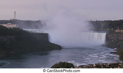 Timelapse Niagara Falls sunrise - Time lapse Niagara Falls...