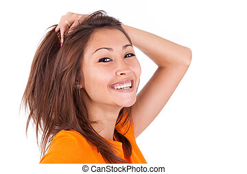 Portrait of a young beautiful asian woman - Asian people