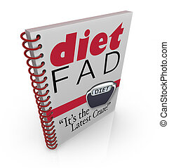 Diet Fad Book Dieting Craze Best-Seller - A spiral-bound...