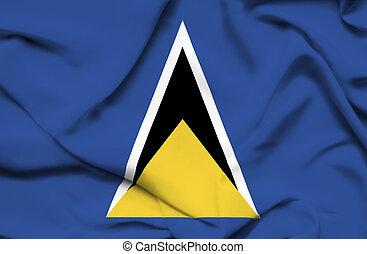 St Lucia waving flag