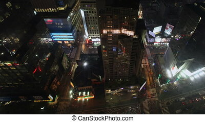 Broadway Aerial - Aerial Timelapse of Broadway near New York...