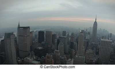 New York Skyline Fisheye - Timelapse Fisheye New York...