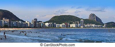 Rio, Copcabana beach - Rio De Janeiro - Jan 19: Copcabana...