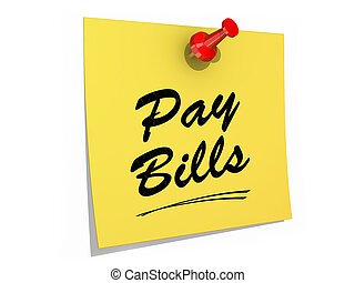 Pay Bills White Background