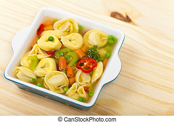 Tortellini soup - Delicious and Hearty Vegetable Soup with...