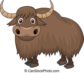 Yak cartoon - Vector illustration of Yak cartoon