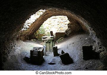 Carthage Tophet Tunis - Stelae in the Tophet of Salammbo...