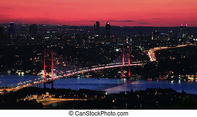Bosphorus Bridge - Istanbul Bosporus Bridge on sunset